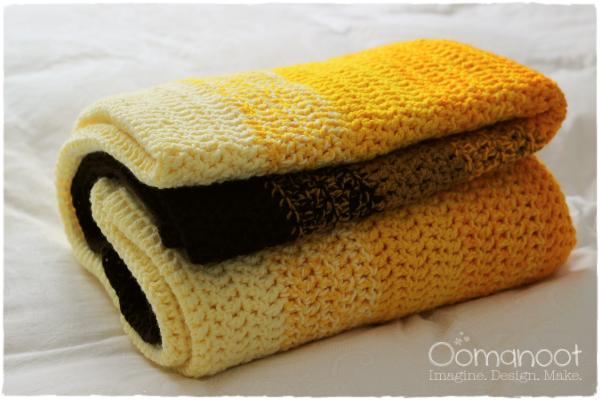 Ombre Crochet Afghan Tutorial | Oomanoot #free #tutorial #ombre #afghan #crochet #blanket